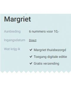 Margriet - 6 nummers 10 euro SA