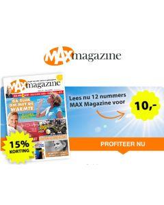 MAX Magazine 12 nrs voor € 10.-- SA