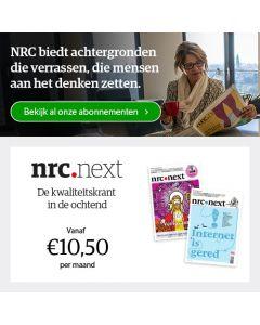 nrc.next digitaal 0/6 | 1 jaar € 2,50 p.w. TWO