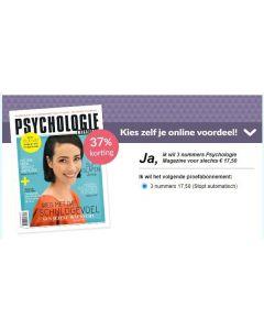 Psychologie Magazine 3 nrs voor € 17,50 KADO