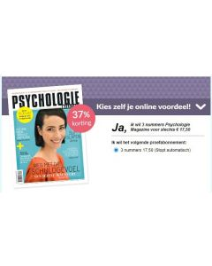 Psychologie Magazine 3 nrs voor € 17,50 SA