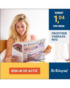 De Telegraaf Premium 0/0| 3 jaar voor slechts € 1,04 p.w. TWO