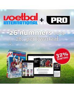 Voetbal International (VI) 52 nrs voor 18 Euro per maand TWO